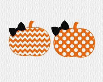 chevron pumpkin polka dot pattern svg dxf file instant download stencil silhouette cameo cricut clip art commercial use