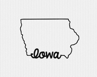Iowa svg dxf file instant download stencil silhouette cameo cricut downloads cut file downloads clip art commercial use