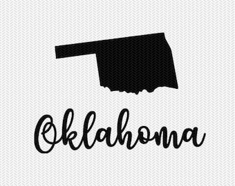 oklahoma decal silhouette svg dxf file instant download silhouette cameo cricut downloads clip art commercial use