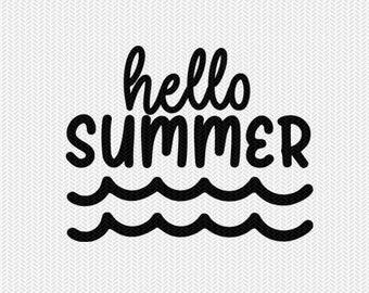 hello summer svg dxf file stencil silhouette cameo cricut commercial use cricut downloads