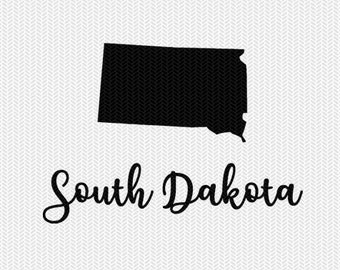 south dakota decal silhouette svg dxf file instant download silhouette cameo cricut downloads clip art commercial use