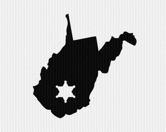 west virginia sheriff svg dxf file stencil instant download silhouette cameo cricut downloads clip art sheriff state svg dxf file