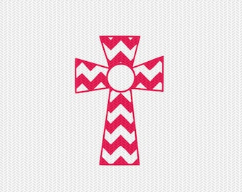 chevron cross svg dxf file instant download silhouette cameo cricut downloads clip art religious christian monogram frame commercial use