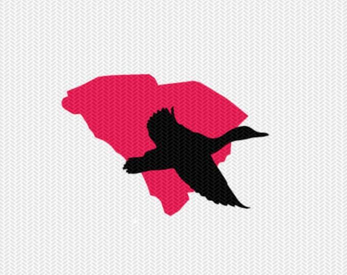 south carolina duck svg dxf file stencil monogram frame silhouette cameo cricut clip art commercial use