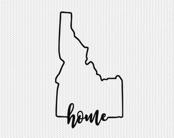 idaho home svg dxf file instant download stencil silhouette cameo cricut downloads cut file downloads clip art commercial use