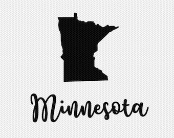 Minnesota decal silhouette svg dxf file instant download silhouette cameo cricut downloads clip art commercial use