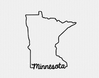 minnesota svg dxf file instant download stencil silhouette cameo cricut downloads cut file downloads clip art commercial use