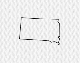 south dakota outline svg dxf file stencil silhouette cameo cricut clip art commercial use