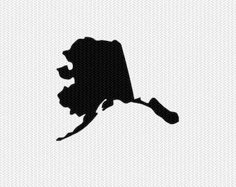 alaska svg dxf file stencil silhouette cameo cricut clip art commercial use