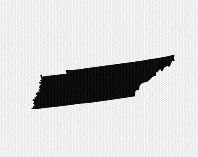 tennessee svg dxf state cut file stencil silhouette cameo cricut download clip art commercial use