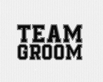 team groom svg dxf file instant download silhouette cameo cricut clip art commercial use