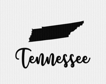 tennessee decal silhouette svg dxf file instant download silhouette cameo cricut downloads clip art commercial use