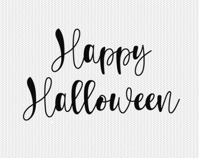 happy halloween svg dxf cut file instant download stencil silhouette cameo cricut download clip art commercial use