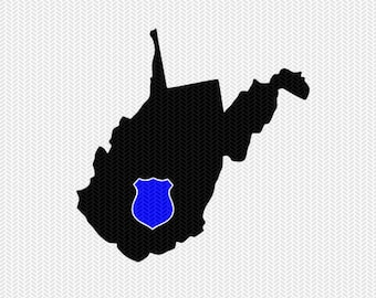 west virginia police svg dxf file stencil instant download silhouette cameo cricut downloads clip art state svg dxf file