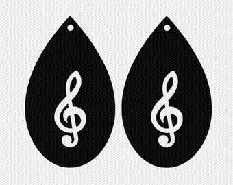 music note earring template earring svg gift tags cricut download svg dxf file stencil silhouette cameo cricut clip art commercial use