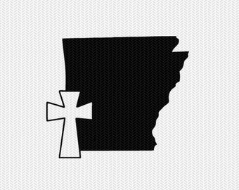 arkansas cross svg dxf file stencil state cut file silhouette cameo cricut download clip art commercial use