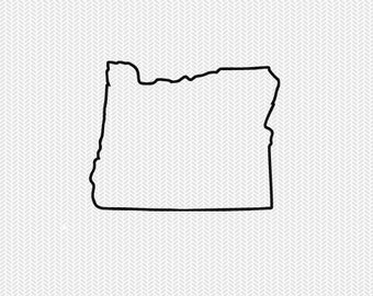 oregon outline svg dxf file stencil silhouette cameo cricut download clip art commercial use