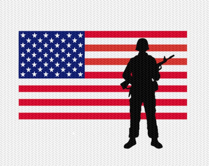 america flag soldier stencil svg dxf file instant download silhouette cameo cricut download clip art commercial use