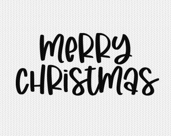 merry christmas svg dxf file instant download silhouette cameo cricut downloads clip art commercial use