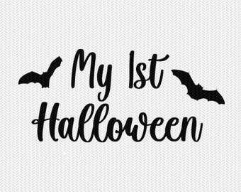 my 1st halloween svg dxf cut file instant download stencil silhouette cameo cricut download clip art commercial use