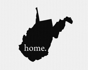 west virginia home svg dxf file stencil instant download silhouette cameo cricut downloads clip art home state svg dxf file