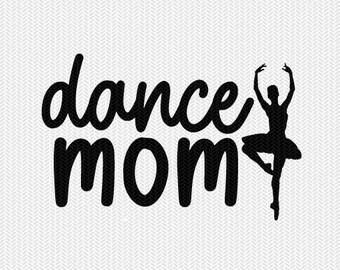 dance mom svg dxf file stencil silhouette cameo cricut commercial use cricut downloads