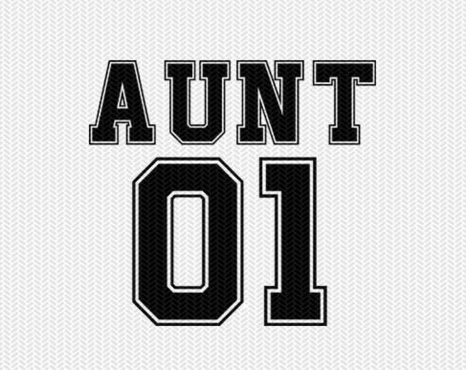 aunt 01 sports svg dxf file instant download silhouette cameo cricut clip art commercial use