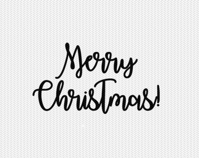 merry christmas svg dxf file instant download stencil silhouette cameo cricut downloads cut file clip art commercial use