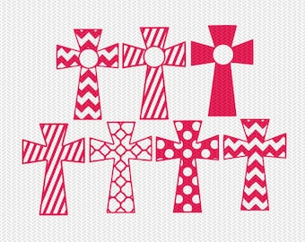 pattern cross svg dxf file instant download stencil silhouette cameo cricut downloads religious christian monogram frame commercial use