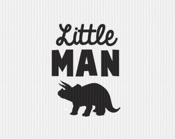 little man dinosaur svg dxf file instant download silhouette cameo cricut clip art commercial use