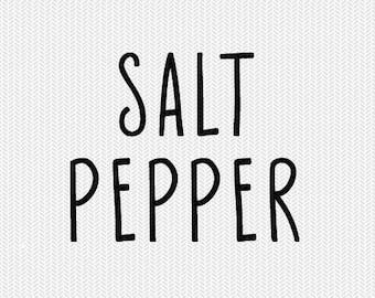 salt and pepper labels svg pantry labels svg dxf cut file instant download stencil silhouette cameo cricut downloads clip art commercial use