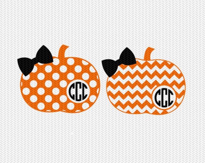 chevron pumpkin monogram frame pattern svg dxf file instant download stencil silhouette cameo cricut clip art commercial use