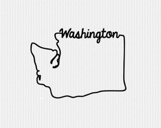 washington svg dxf file instant download stencil silhouette cameo cricut downloads cut file downloads clip art commercial use