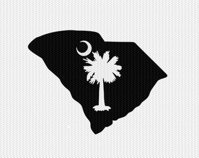 south carolina palm tree decal silhouette svg dxf file instant download silhouette cameo cricut downloads clip art commercial use
