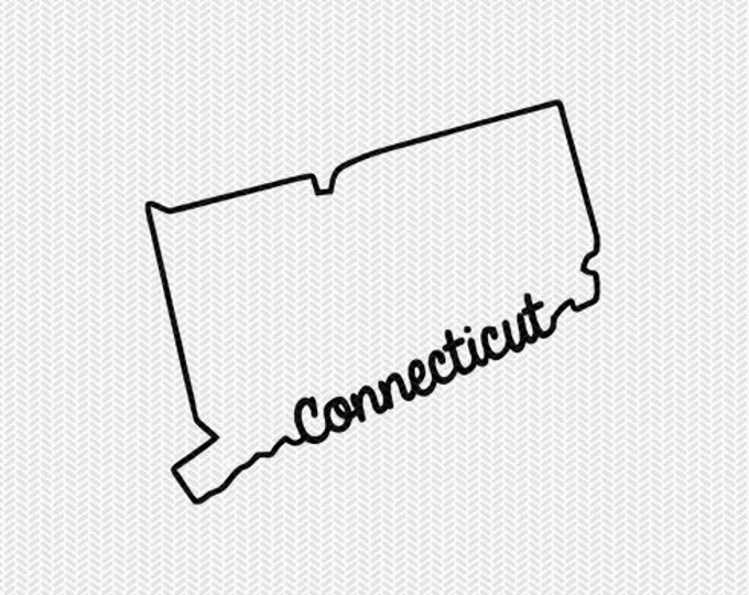 connecticut svg dxf file instant download stencil silhouette cameo cricut downloads cut file downloads clip art commercial use