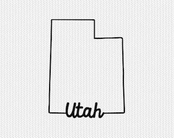 utah svg dxf file instant download stencil silhouette cameo cricut downloads cut file downloads clip art commercial use