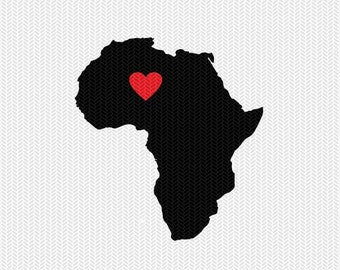 africa heart svg dxf file stencil monogram frame silhouette cameo cricut download clip art commercial use