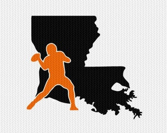 louisiana football svg dxf file stencil instant download silhouette cameo cricut downloads clip art sports state cut file