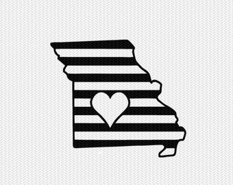 missouri stripes heart svg dxf file download stencil silhouette cameo cricut downloads cut file downloads clip art commercial use