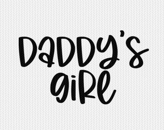 daddys girl svg dxf file instant download silhouette cameo cricut downloads clip art commercial use