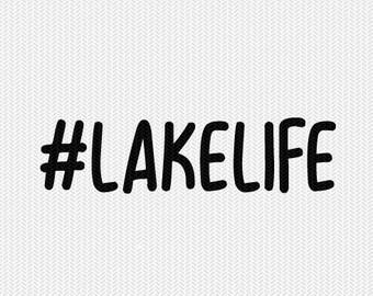 lake life svg dxf file stencil silhouette cameo cricut commercial use cricut downloads