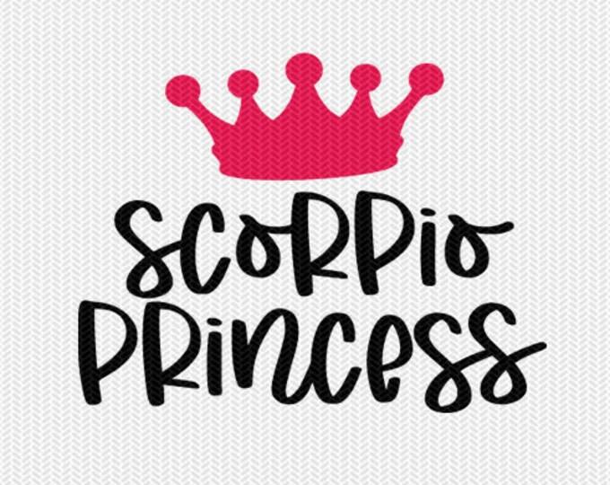 scorpio princess zodiac astrology svg dxf file instant download silhouette cameo cricut clip art commercial use cricut downloads