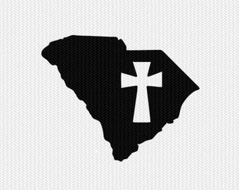 south carolina cross svg dxf file stencil state cut file silhouette cameo cricut download clip art commercial use