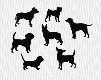 dog svg dxf file instant download stencil silhouette cameo cricut clip art pets dog breeds animals commercial use