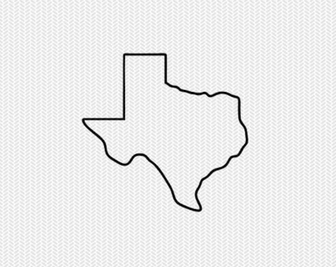 texas outline svg dxf file stencil silhouette cameo cricut downloads clip art commercial use