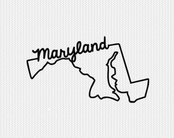 maryland svg dxf file instant download stencil silhouette cameo cricut downloads cut file downloads clip art commercial use