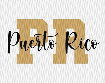 puerto rico state svg dxf file instant download silhouette cameo cricut downloads clip art commercial use