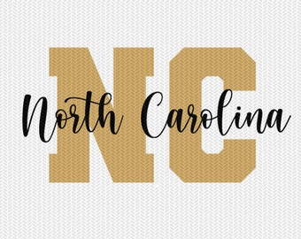 north carolina state svg dxf file instant download silhouette cameo cricut downloads clip art commercial use