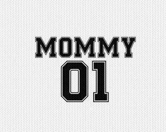 mommy 01 sports  dxf file instant download silhouette cameo cricut clip art commercial use