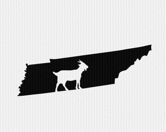 tennessee goat svg dxf file stencil instant download silhouette cameo cricut downloads clip art animals goat state svg dxf file